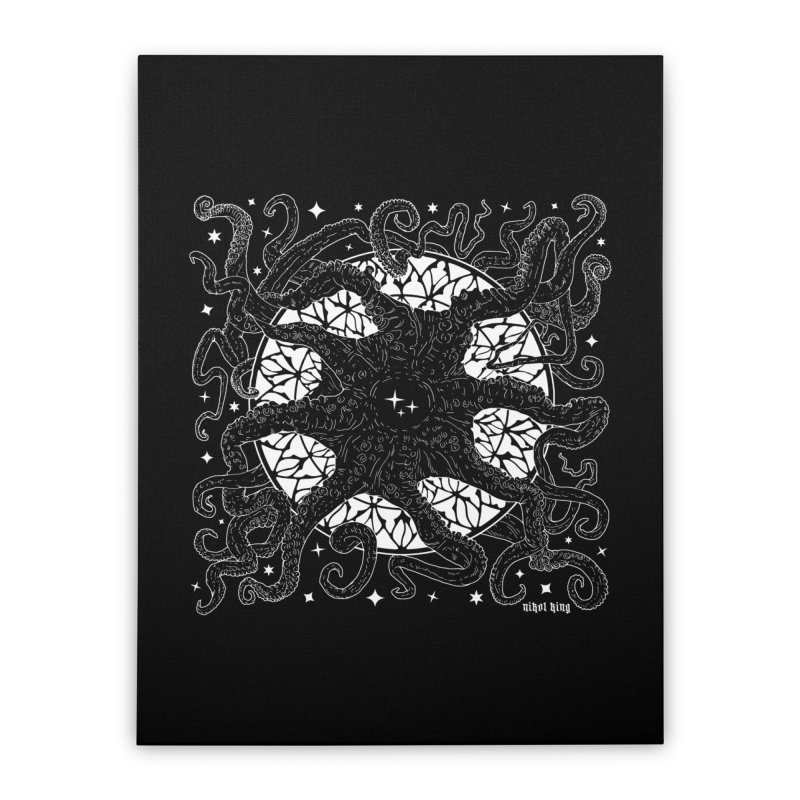 STAR SPAWN Home Stretched Canvas by Niko L King's Artist Shop