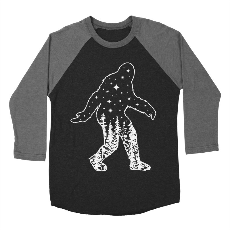 STAR SQUATCH Men's Baseball Triblend Longsleeve T-Shirt by nikolking's Artist Shop