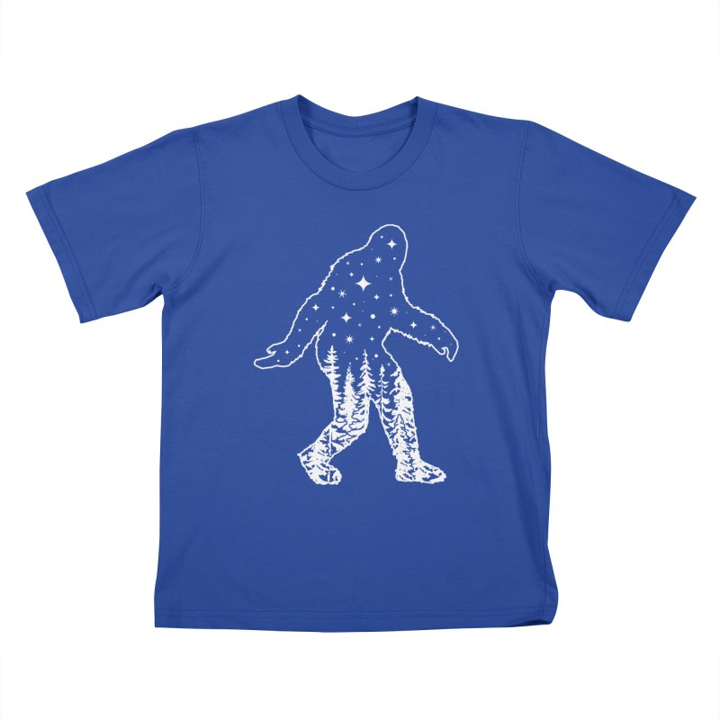 STAR SQUATCH Kids T-Shirt by Nikol King's Artist Shop