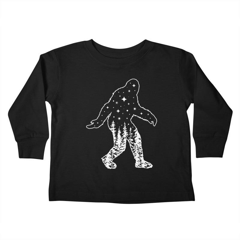 STAR SQUATCH Kids Toddler Longsleeve T-Shirt by Niko L King's Artist Shop