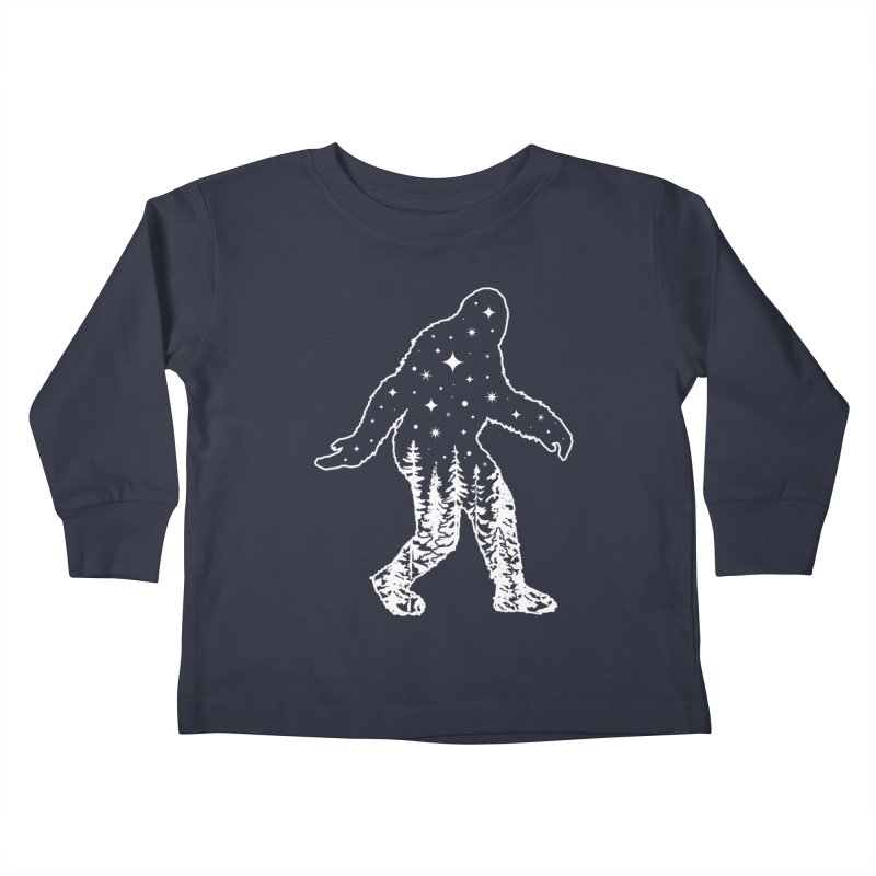 STAR SQUATCH Kids Toddler Longsleeve T-Shirt by Nikol King's Artist Shop