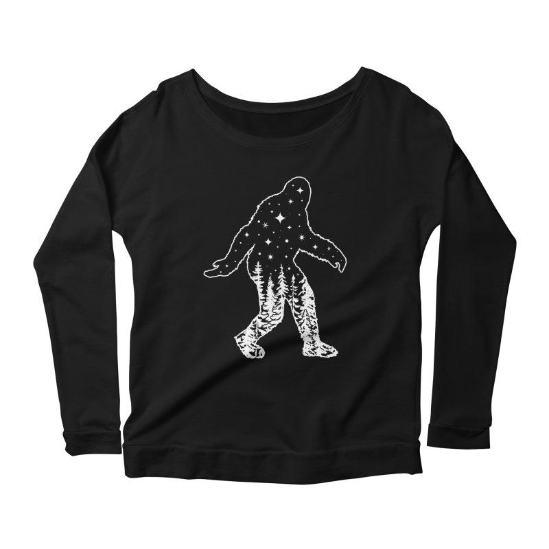 STAR SQUATCH Women's Scoop Neck Longsleeve T-Shirt by Nikol King's Artist Shop