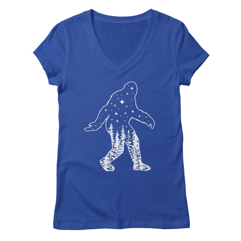 STAR SQUATCH Women's Regular V-Neck by Nikol King's Artist Shop