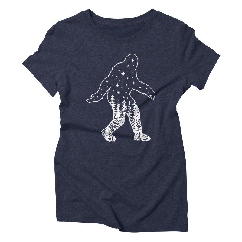 STAR SQUATCH Women's Triblend T-Shirt by Niko L King's Artist Shop
