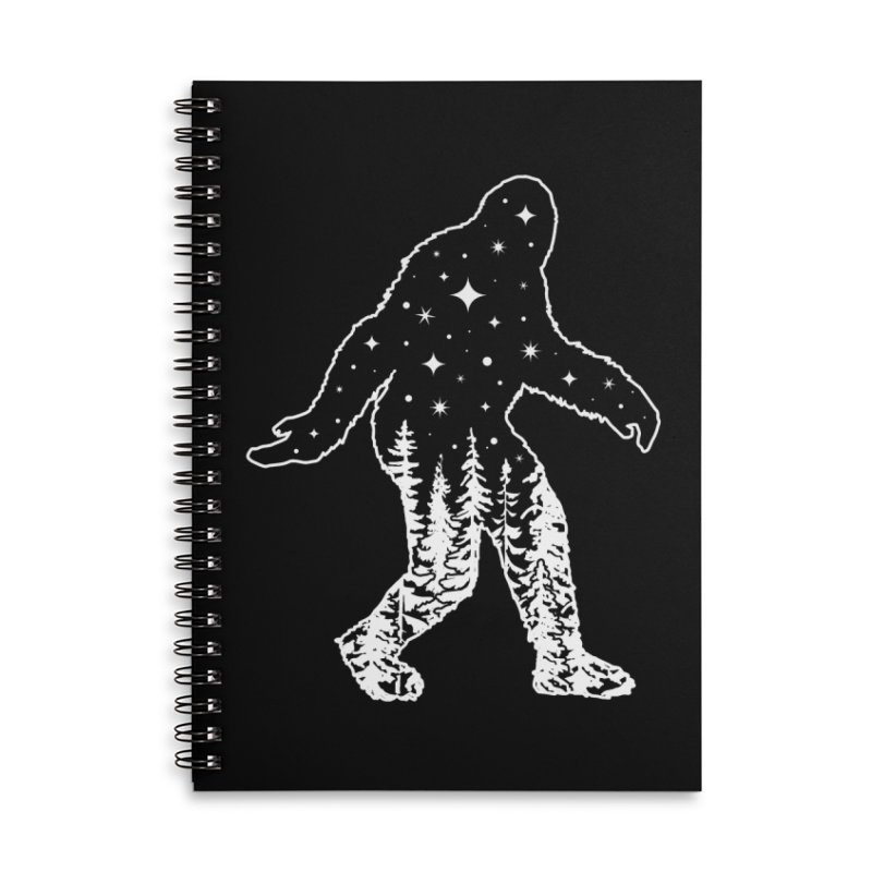 STAR SQUATCH Accessories Lined Spiral Notebook by Nikol King's Artist Shop