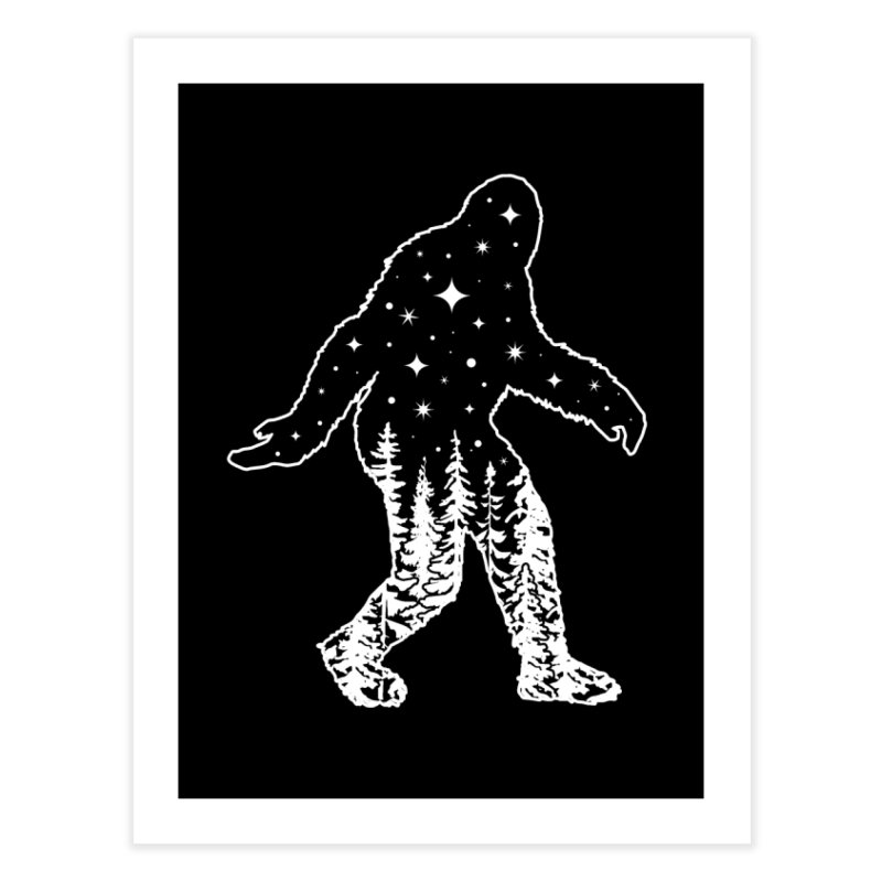 STAR SQUATCH Home Fine Art Print by Niko L King's Artist Shop