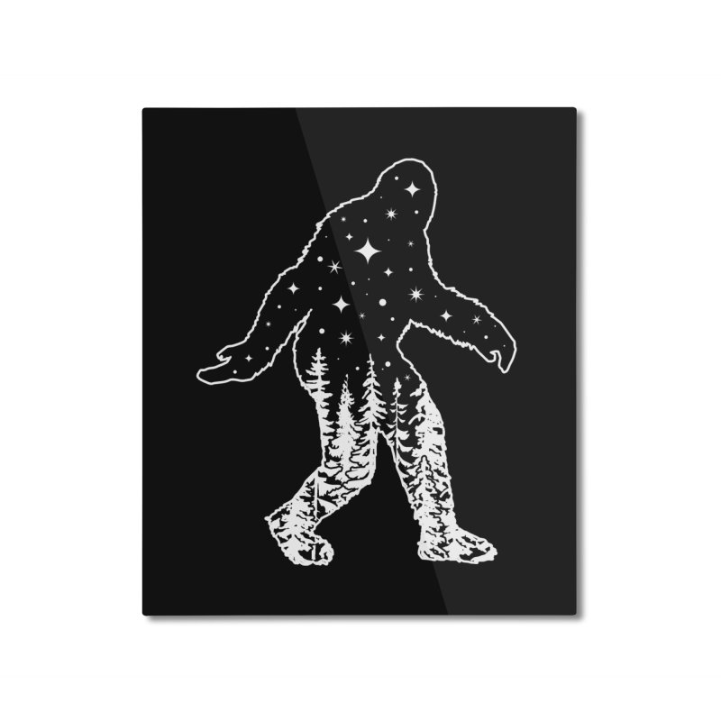 STAR SQUATCH Home Mounted Aluminum Print by Nikol King's Artist Shop