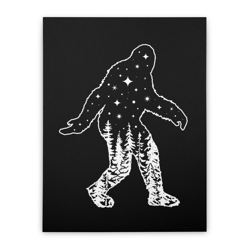 STAR SQUATCH Home Stretched Canvas by Niko L King's Artist Shop