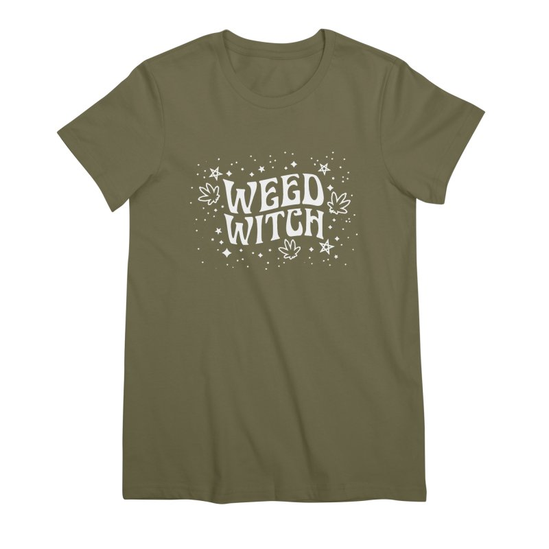 Weed Witch Women's Premium T-Shirt by Nikol King's Artist Shop