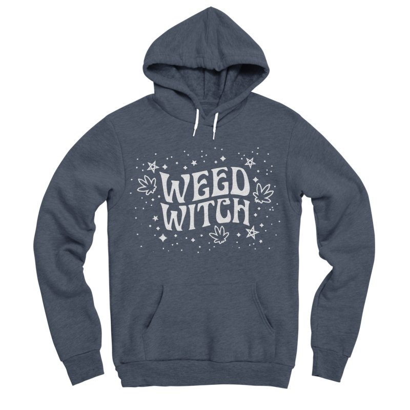 Weed Witch Men's Sponge Fleece Pullover Hoody by Nikol King's Artist Shop