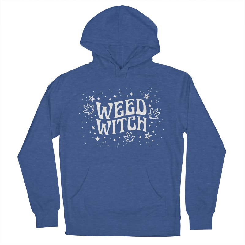 Weed Witch Men's French Terry Pullover Hoody by Nikol King's Artist Shop