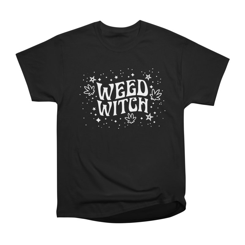 Weed Witch Women's Heavyweight Unisex T-Shirt by Nikol King's Artist Shop