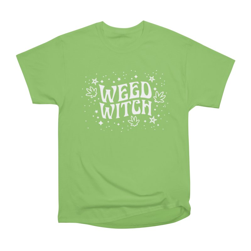 Weed Witch Women's Heavyweight Unisex T-Shirt by Niko L King's Artist Shop