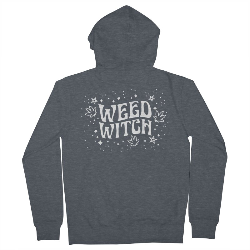 Weed Witch Women's French Terry Zip-Up Hoody by Nikol King's Artist Shop