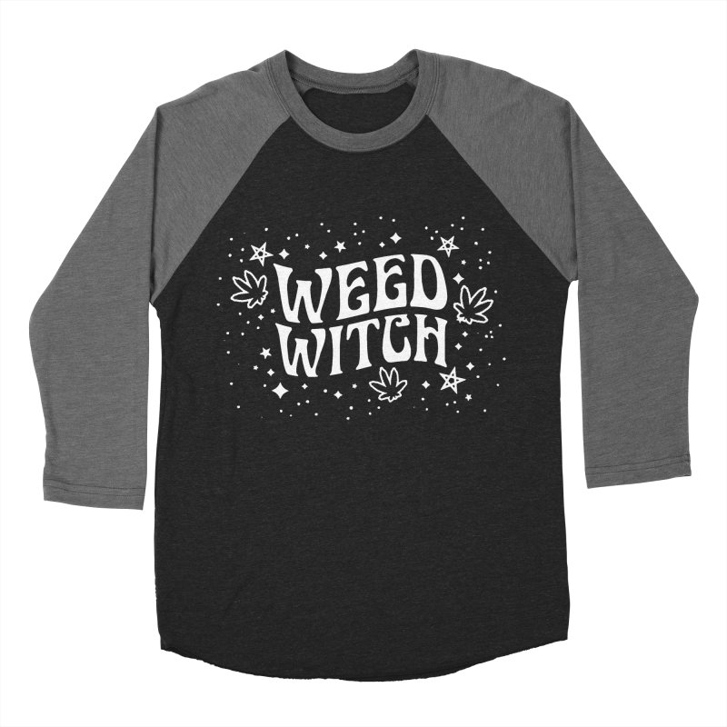 Weed Witch Men's Baseball Triblend Longsleeve T-Shirt by nikolking's Artist Shop