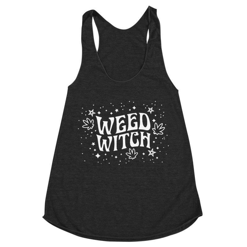 Weed Witch Women's Racerback Triblend Tank by Nikol King's Artist Shop
