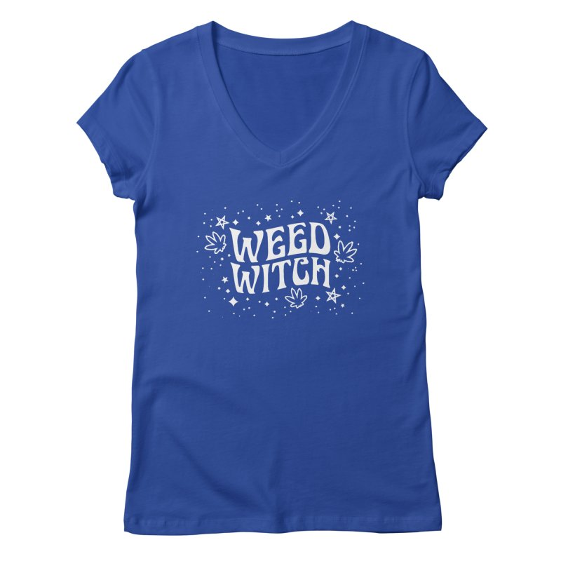 Weed Witch Women's Regular V-Neck by Nikol King's Artist Shop