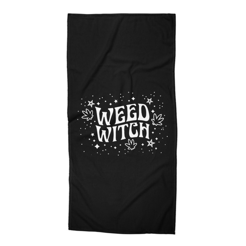 Weed Witch Accessories Beach Towel by Niko L King's Artist Shop