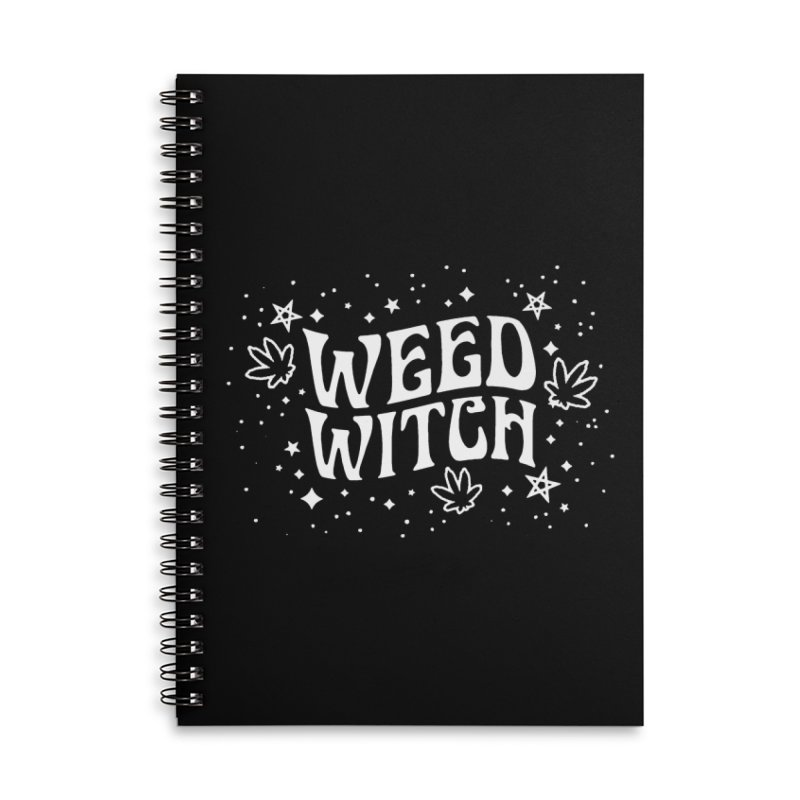 Weed Witch Accessories Lined Spiral Notebook by Nikol King's Artist Shop
