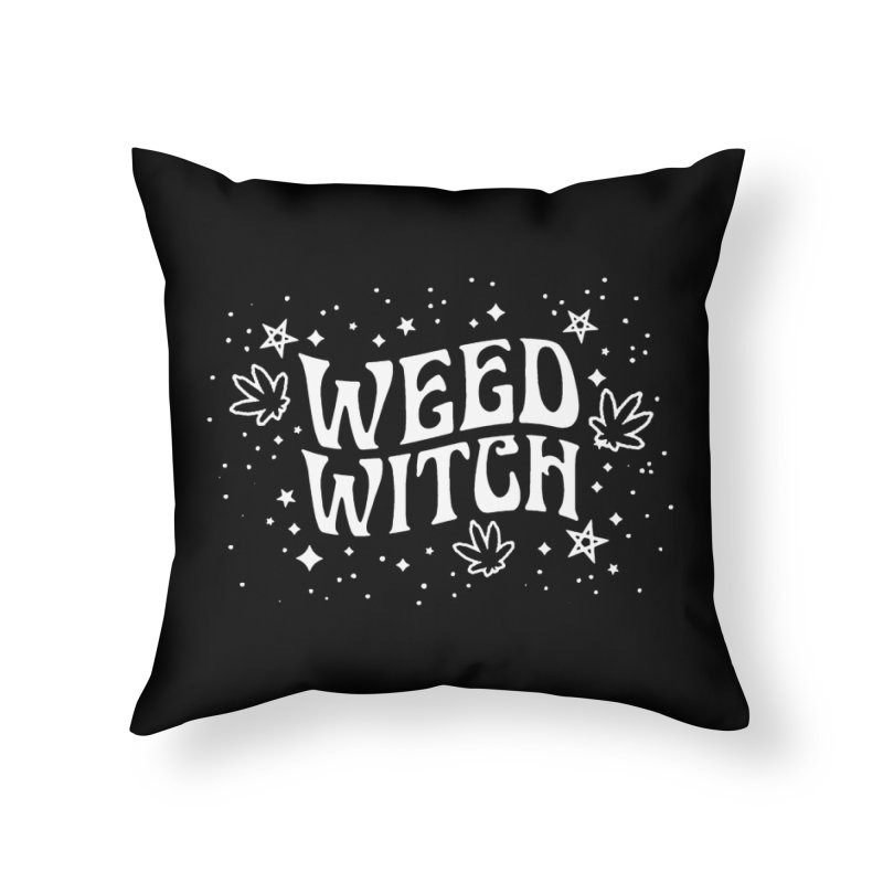 Weed Witch Home Throw Pillow by Niko L King's Artist Shop