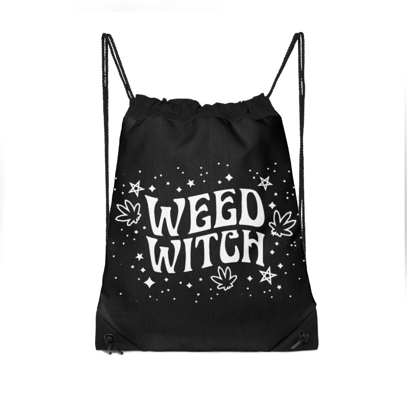 Weed Witch Accessories Drawstring Bag Bag by Nikol King's Artist Shop
