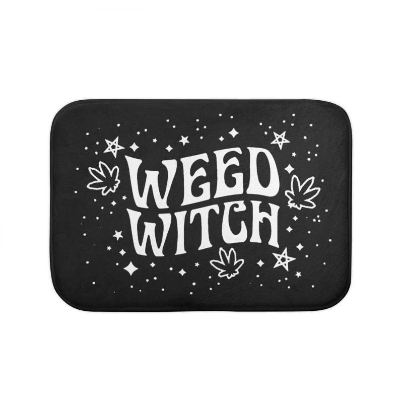 Weed Witch Home Bath Mat by Niko L King's Artist Shop
