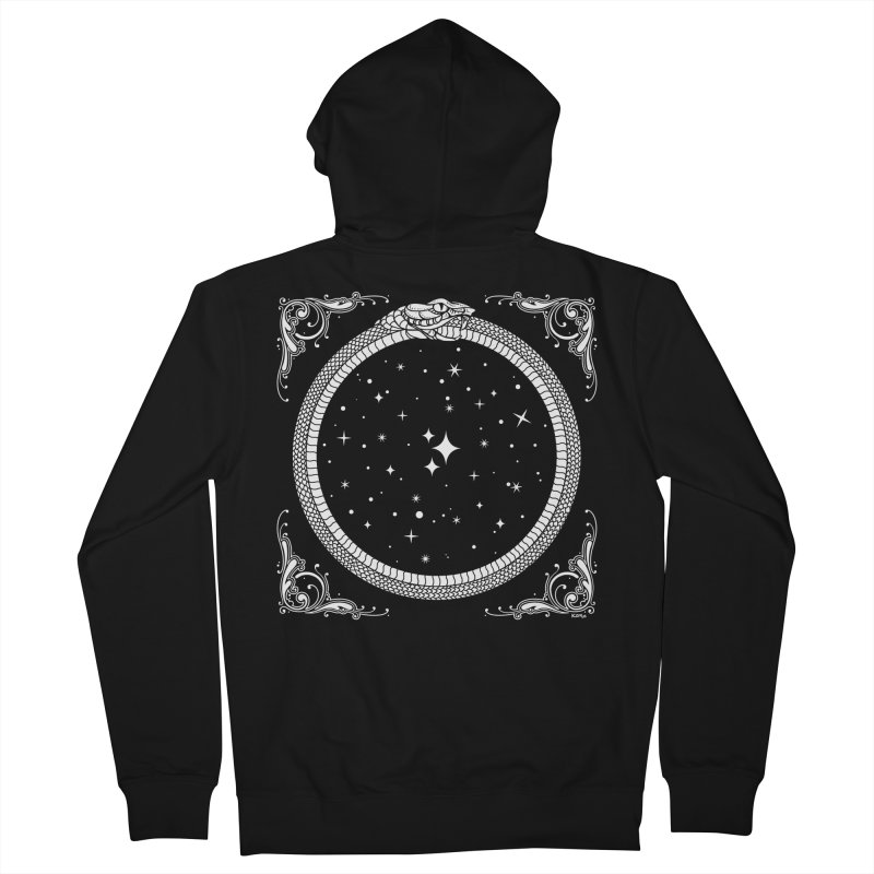 The Serpent & Stars Men's French Terry Zip-Up Hoody by nikolking's Artist Shop
