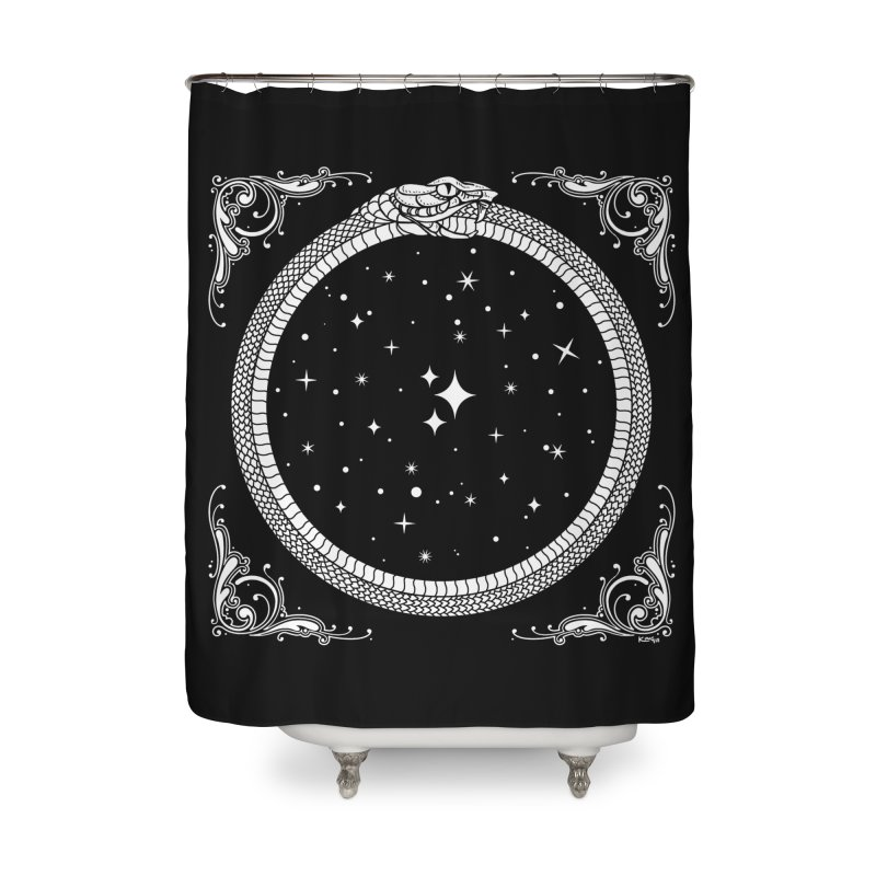 The Serpent & Stars Home Shower Curtain by Nikol King's Artist Shop