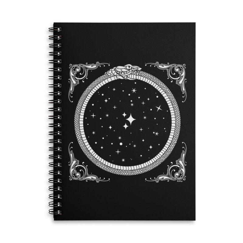 The Serpent & Stars Accessories Lined Spiral Notebook by Nikol King's Artist Shop