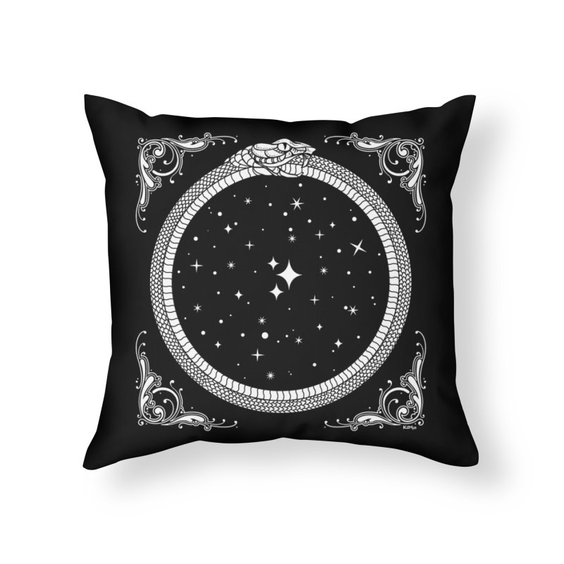The Serpent & Stars Home Throw Pillow by nikolking's Artist Shop