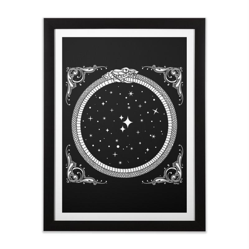 The Serpent & Stars Home Framed Fine Art Print by Niko L King's Artist Shop