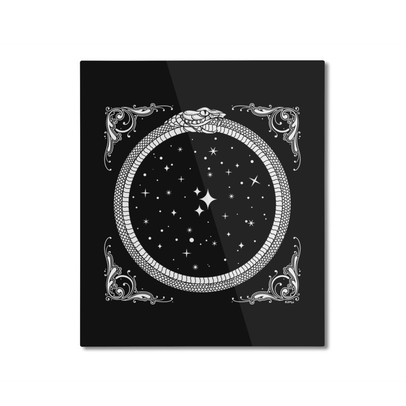 The Serpent & Stars Home Mounted Aluminum Print by Nikol King's Artist Shop