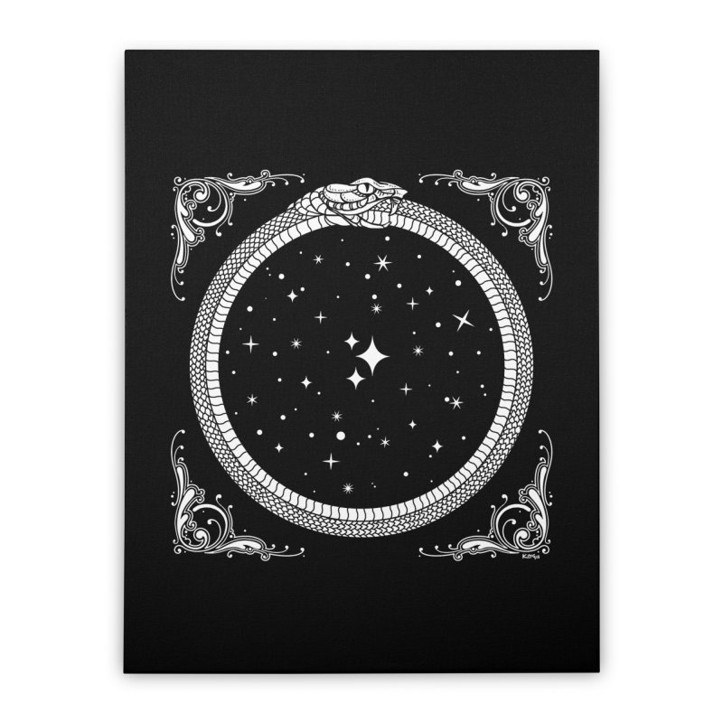 The Serpent & Stars Home Stretched Canvas by Nikol King's Artist Shop