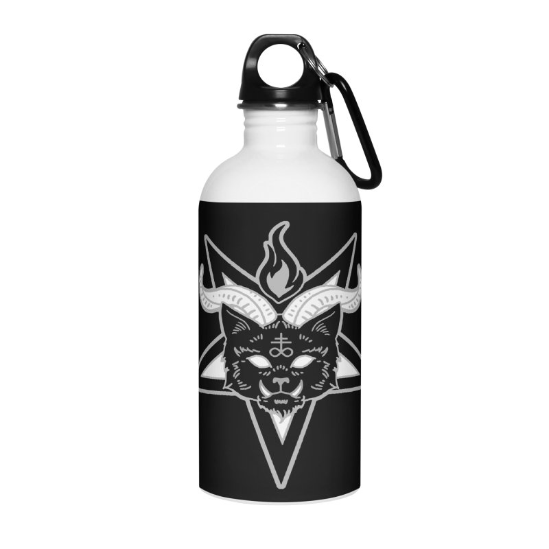 The Seal of Lucipurr Accessories Water Bottle by Niko L King's Artist Shop