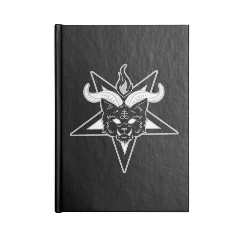 The Seal of Lucipurr Accessories Lined Journal Notebook by Nikol King's Artist Shop