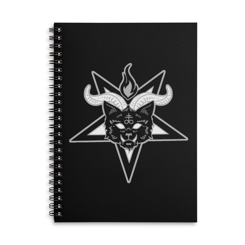 The Seal of Lucipurr Accessories Lined Spiral Notebook by Nikol King's Artist Shop