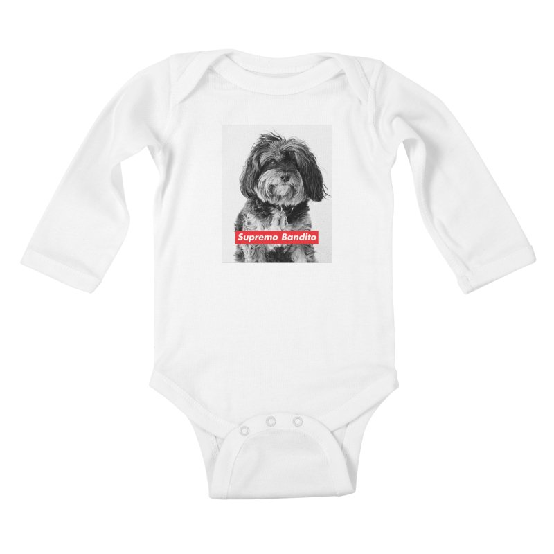 Supremo Bandito Kids Baby Longsleeve Bodysuit by nikson's Artist Shop
