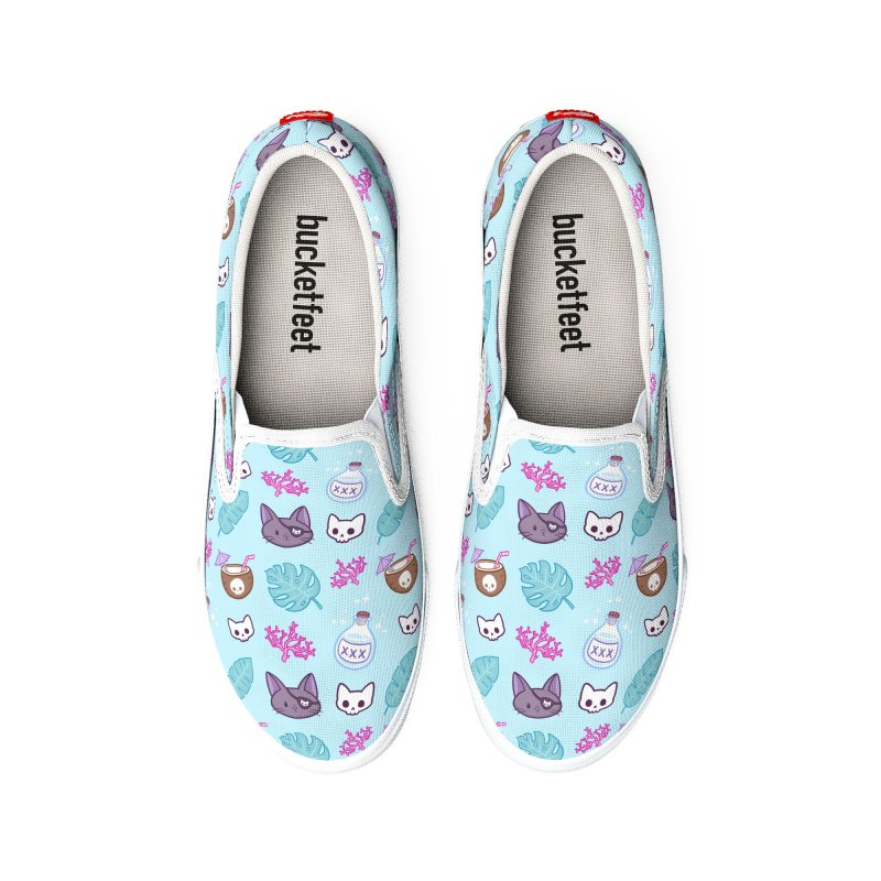Pirate Cat // Turquoise | Nikury Men's Shoes by Nikury
