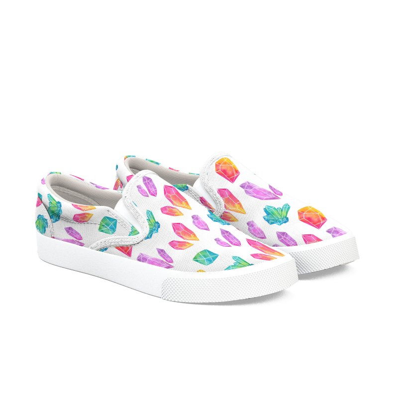 Watercolor Crystals Women's Slip-On Shoes by Nikury Shop