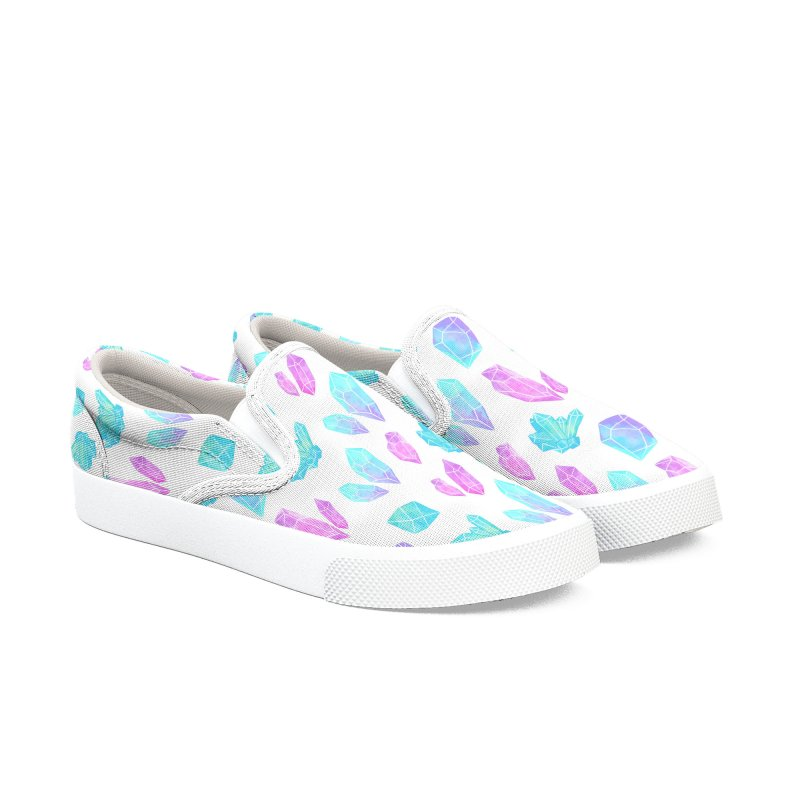 Pastel Watercolor Crystals Women's Slip-On Shoes by Nikury Shop