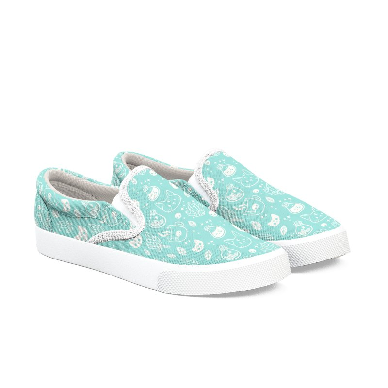 Herb Witch // Green Pastel Women's Slip-On Shoes by Nikury Shop