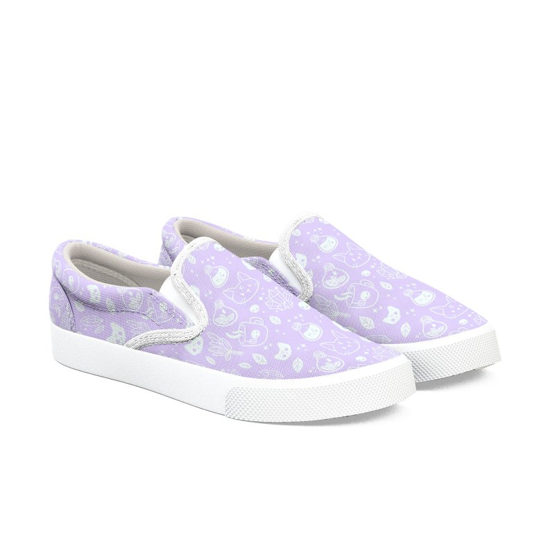 Herb Witch // Purple Pastel Women's Slip-On Shoes by Nikury Shop