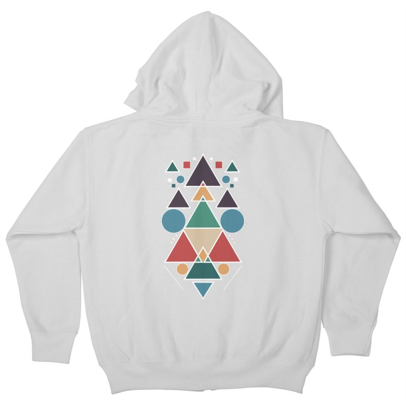 Symmetric Angle Kids Zip-Up Hoody by nils285's Artist Shop