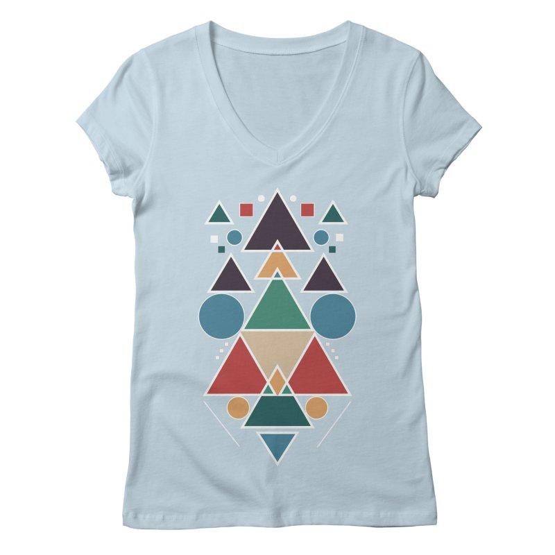 Symmetric Angle Women's V-Neck by nils285's Artist Shop