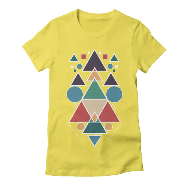 Symmetric Angle Women's Fitted T-Shirt by nils285's Artist Shop