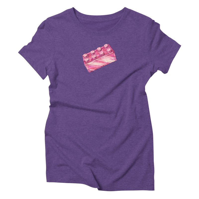 Pink Brick in Women's Triblend T-Shirt Tri-Purple by Nimasprout's Shop