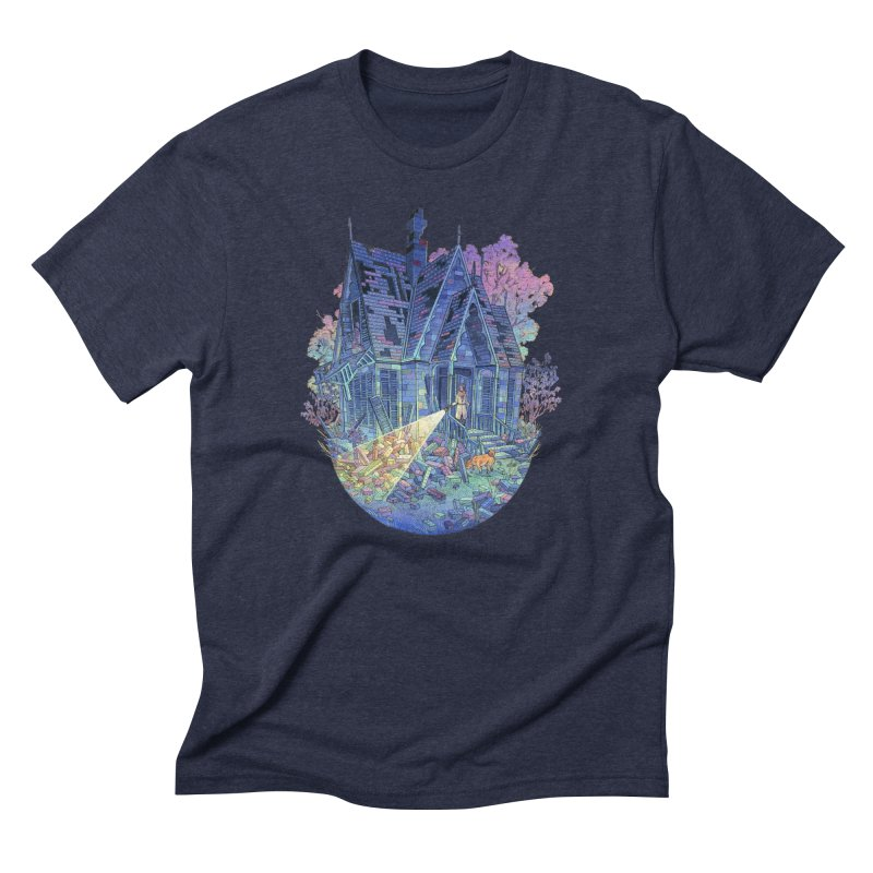 Mystery House in Men's Triblend T-Shirt Navy by Nimasprout's Shop