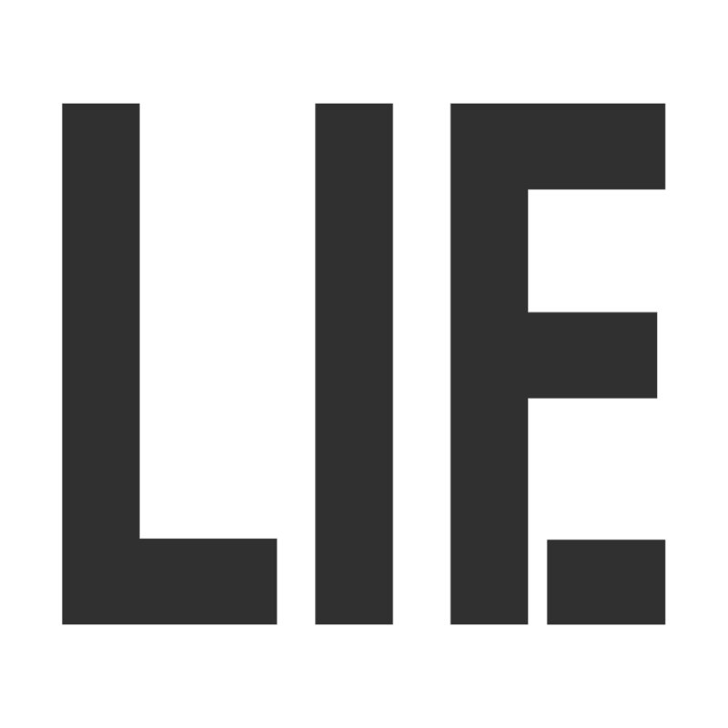 life is a lie Men's T-Shirt by nina horribilis