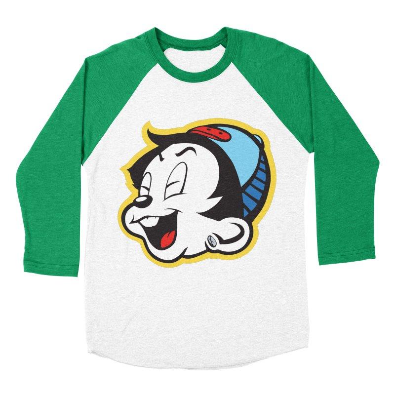 Laugh Loud! in Men's Baseball Triblend Longsleeve T-Shirt Tri-Kelly Sleeves by Nina's World!