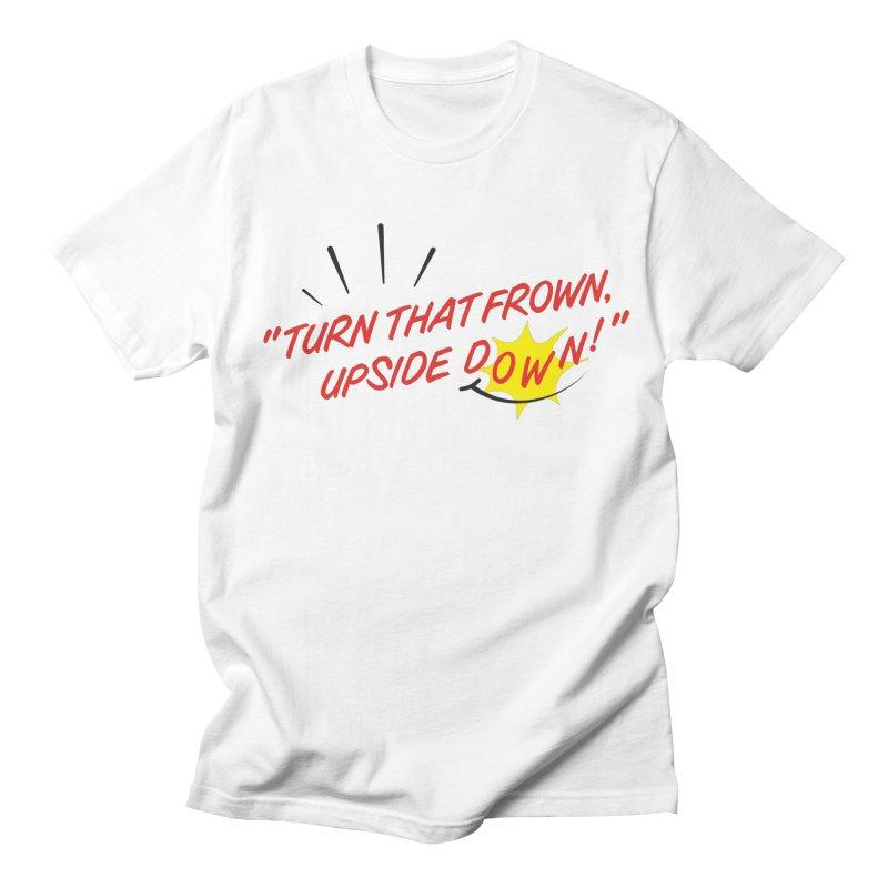 Smile in Men's Regular T-Shirt White by Nina's World!